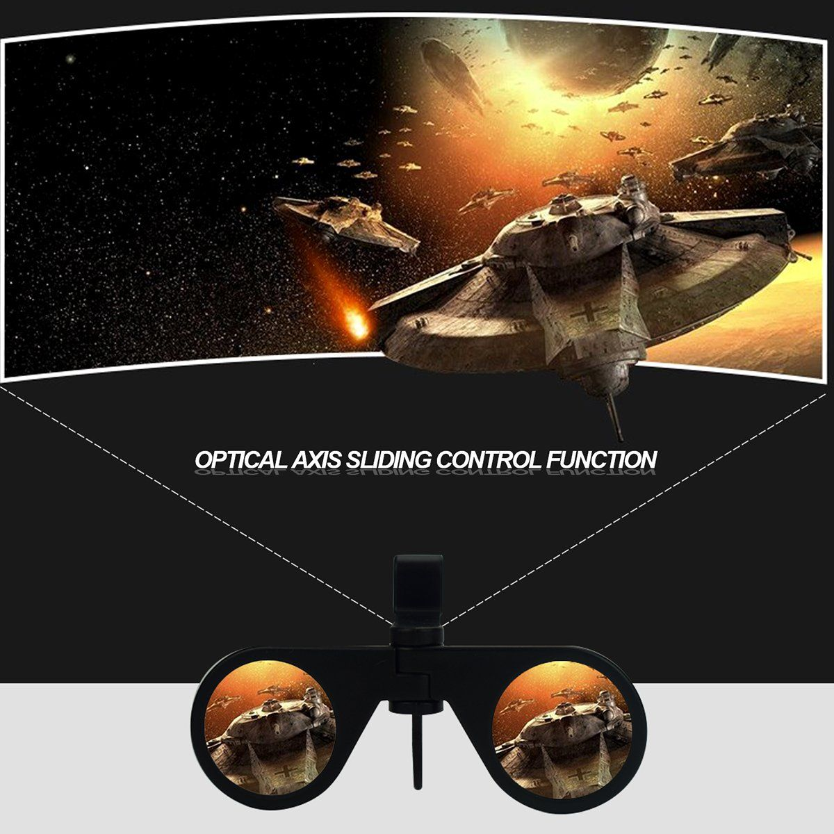 ed19976d382 TekKamp 3D VR Glasses Mini Folding 3D Virtual Reality Cellphone Nearsighted  Myopic VR Glasses for 3D
