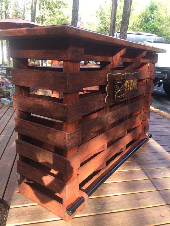 The Floridian ~Pallet Bar/Tiki Bar~ • October Sale • The Most Incredible True Pallet Bar/Tiki Bar You Can Buy
