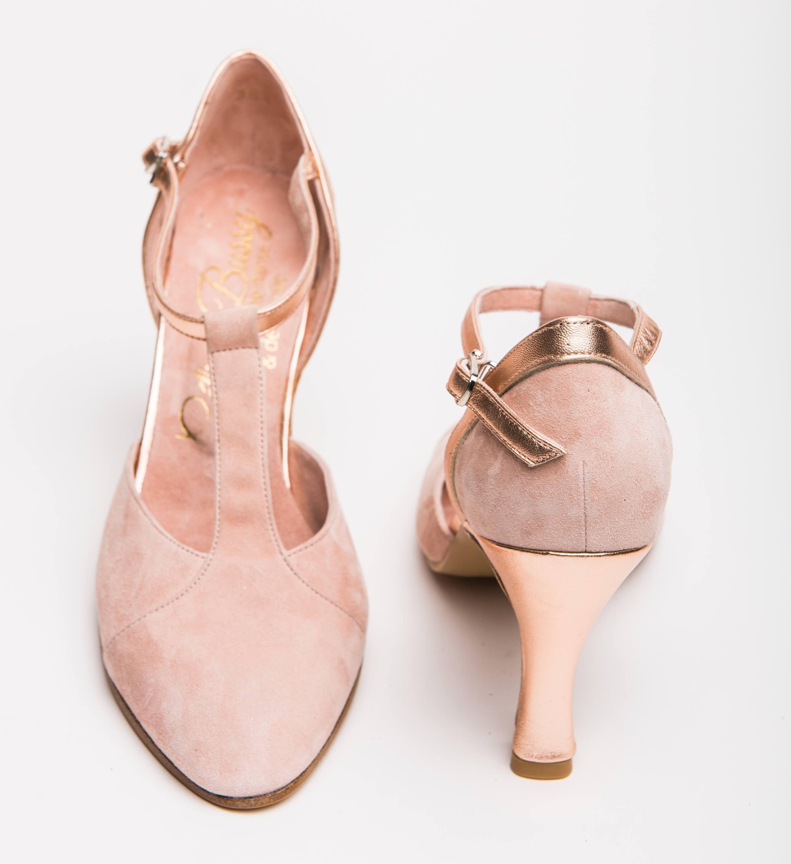 Salomé rose et cuivré | Chaussure mariage, Chaussure mariee