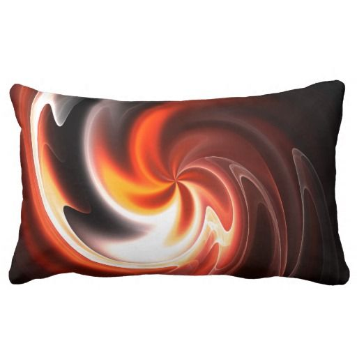 Red Orange Yellow And White Decorative Throw Pillow Decorative