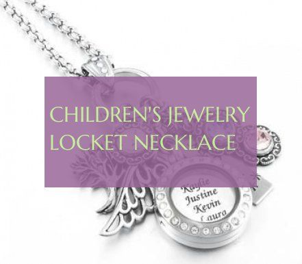 children's jewelry locket necklace