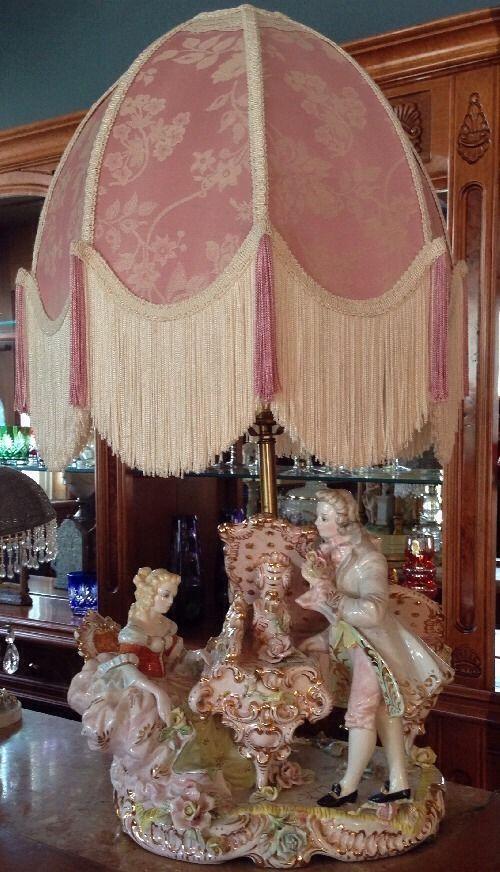 Benrose Carlo Mollica Capodimonte Gorgeous Vtg Table Lamp