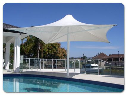 Commercial Tension Membrane Pvc Shade Structures Outdoor Patio Umbrellas And Sails 160 Km Hr Wind Rating