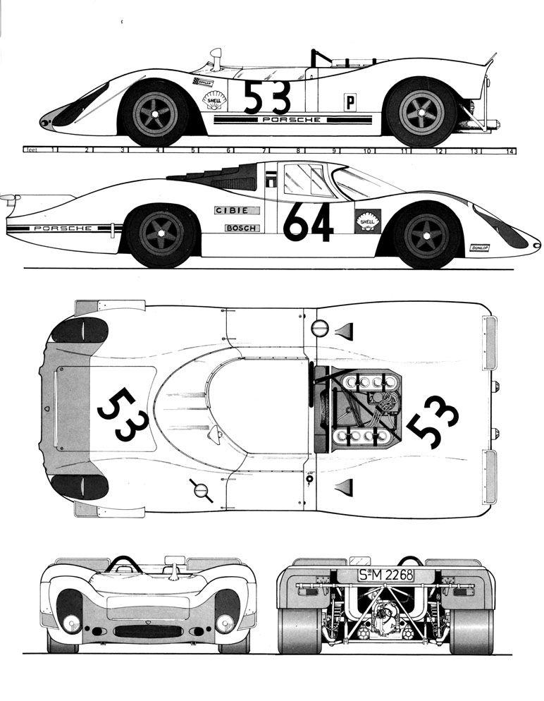 Porsche 908 blueprint racing car blueprint pinterest car porsche 908 blueprint malvernweather Choice Image
