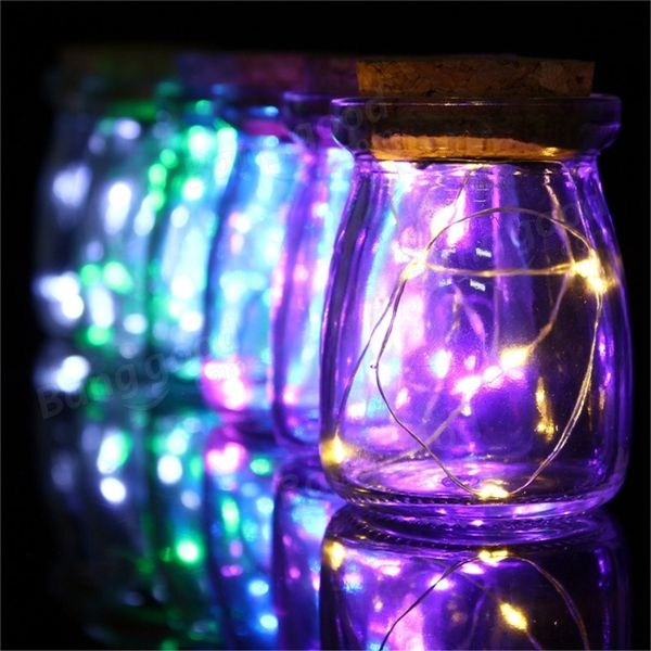 Romantic Xmas 10 LED Colours Seed Vase Lights Wedding Centrepiece