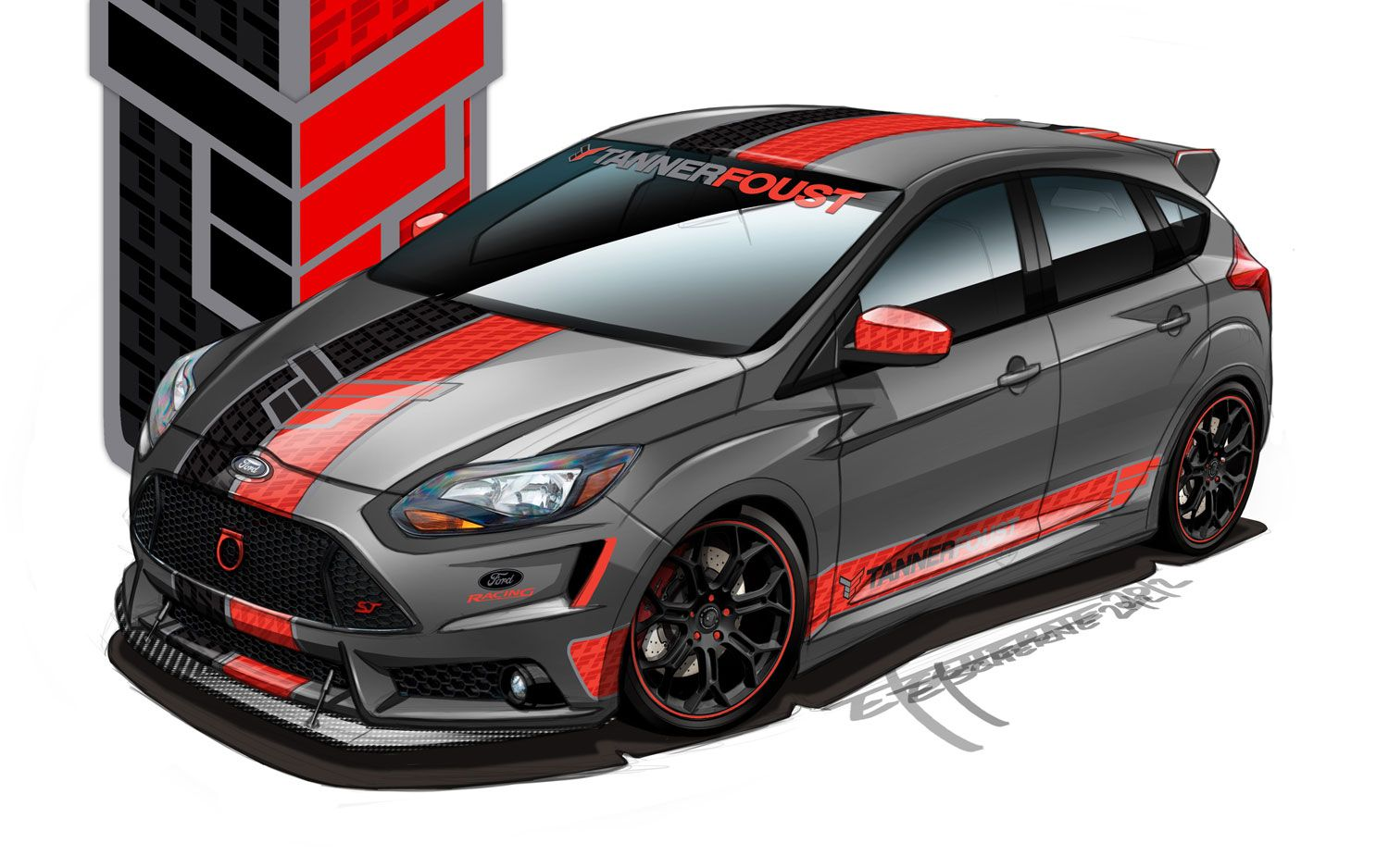 Customized 2013 Ford Focus St Show Cars Previewed Ahead Of Sema Debut Ford Focus Automobile Macchine Sportive