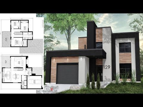 Pin By Damian Adina On Plans De Maison House Design Pictures Small Modern House Plans Architecture House
