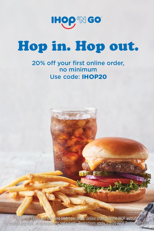 Bada bing, bada burger. Order from IHOP 'N GO and take 20