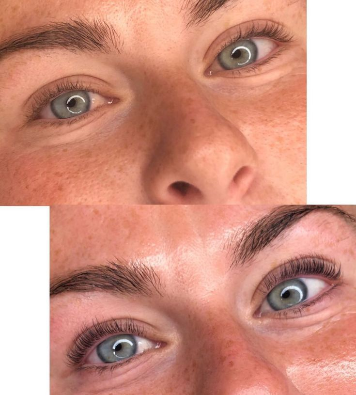 Lash lift and tint enhancing your natural lashes