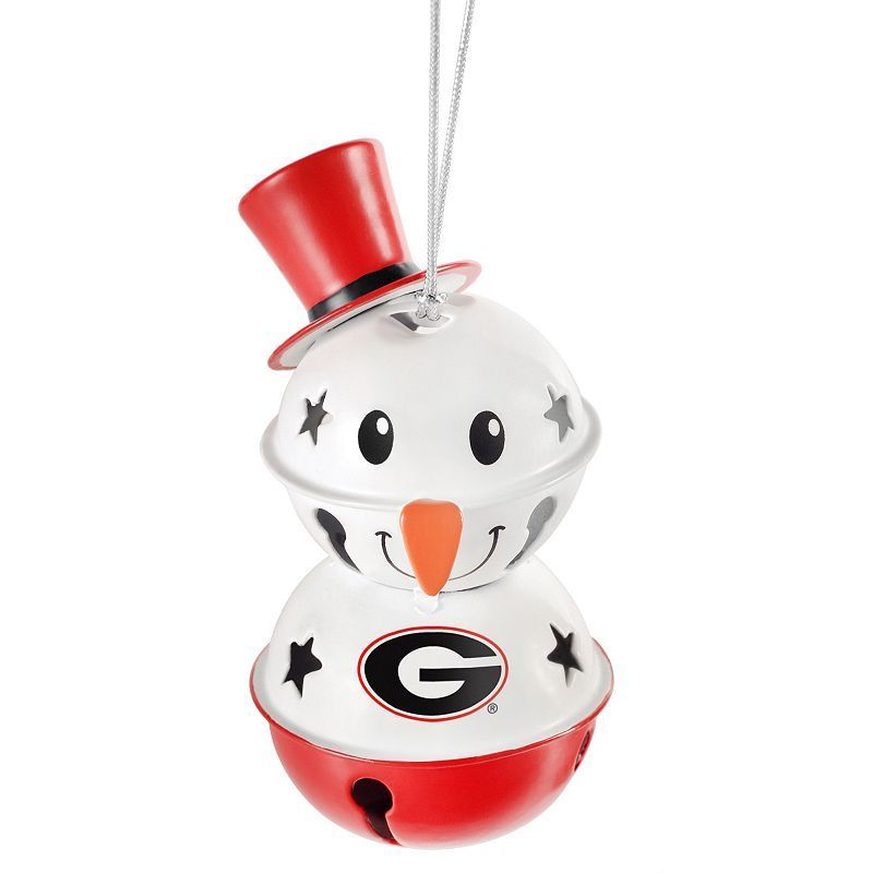 Forever Collectibles Georgia Snowman Bell Christmas Ornament, Multicolor
