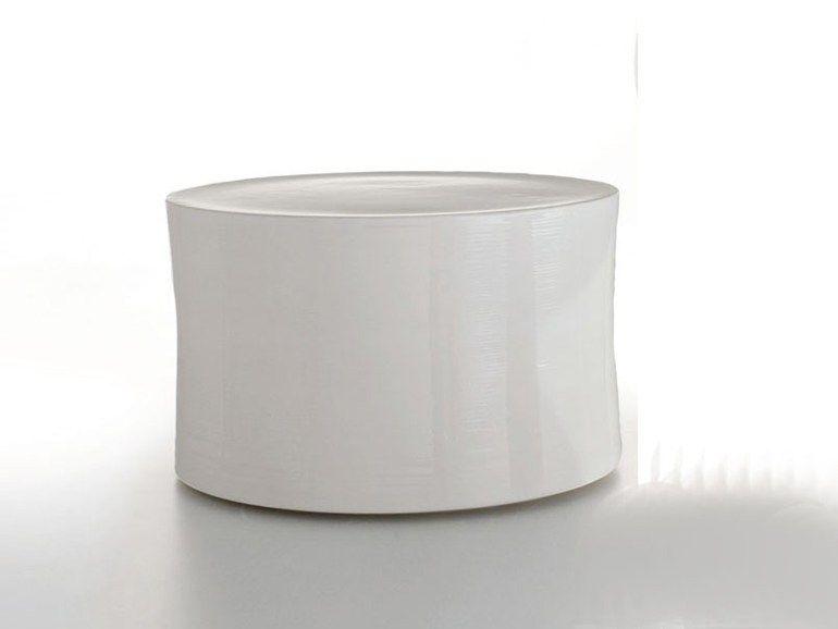 Tavolino Da Giardino Rotondo In Ceramica White Collection