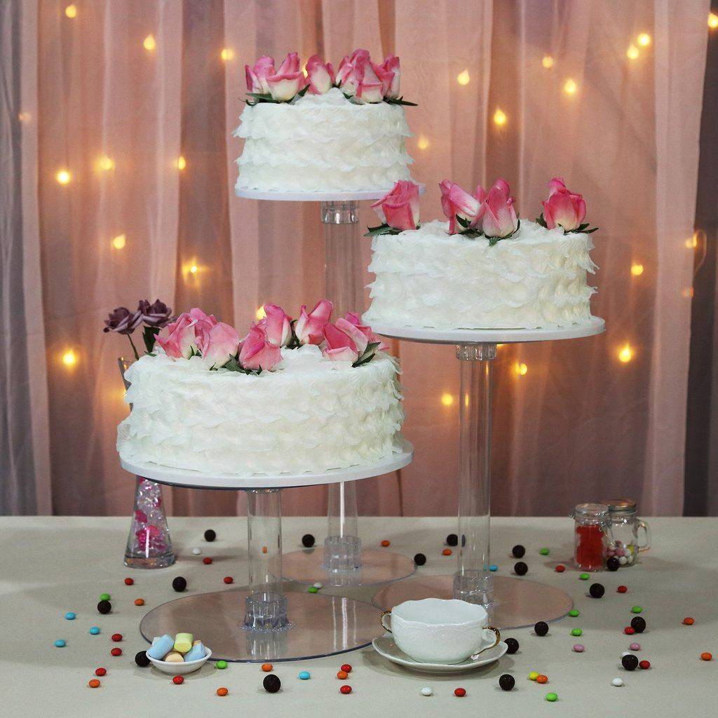 3 tier clear acrylic cupcake cake stand with images