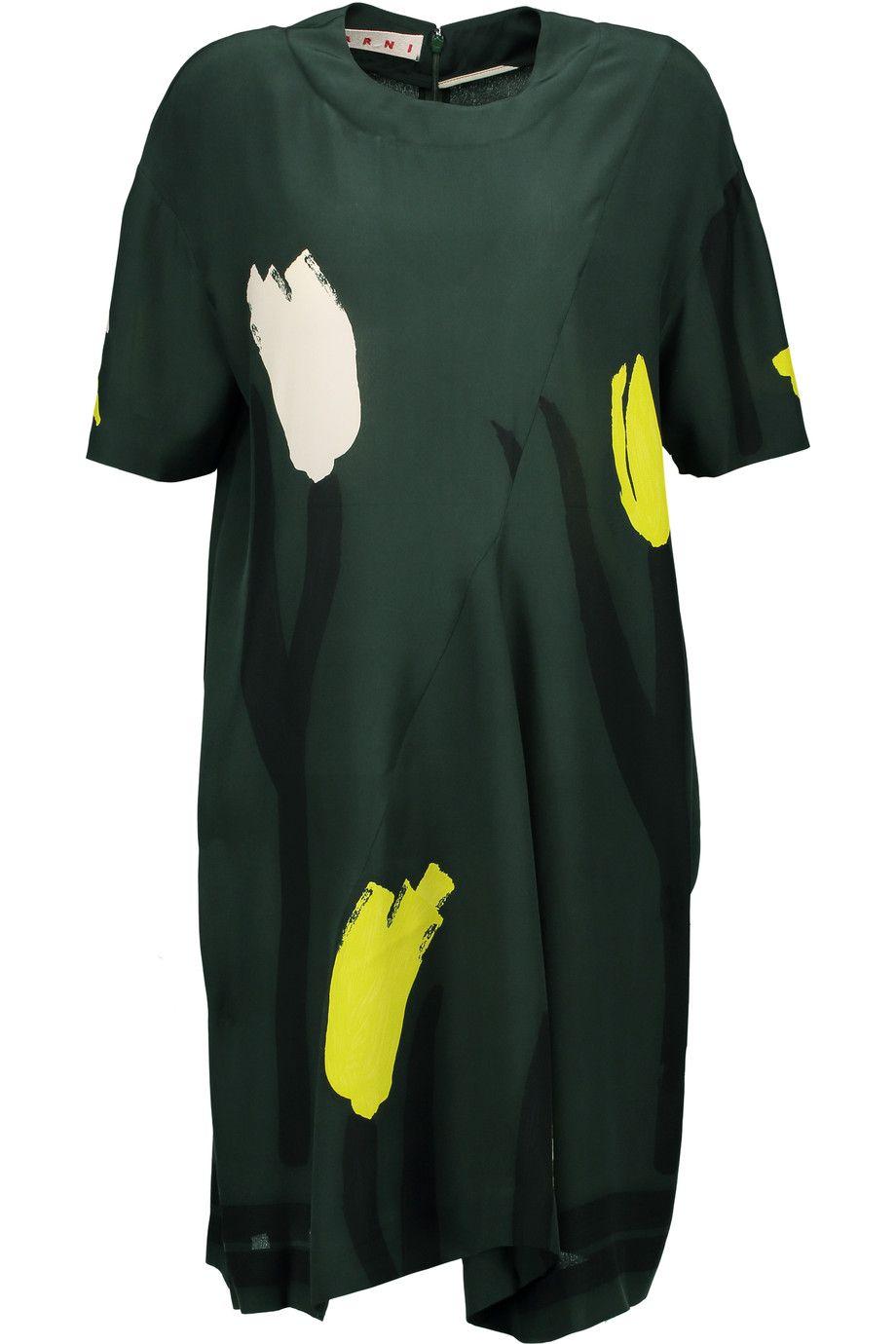 MARNI Printed Silk Mini Dress. #marni #cloth #dress