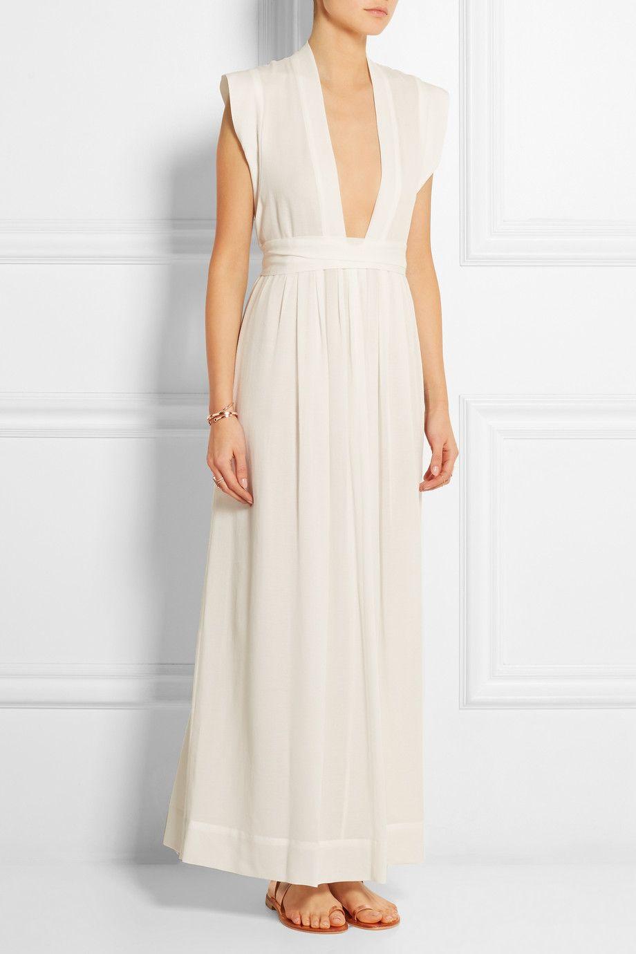White Sachi Voile Maxi Dress Isabel Marant Maxi Dress Dresses White Dress