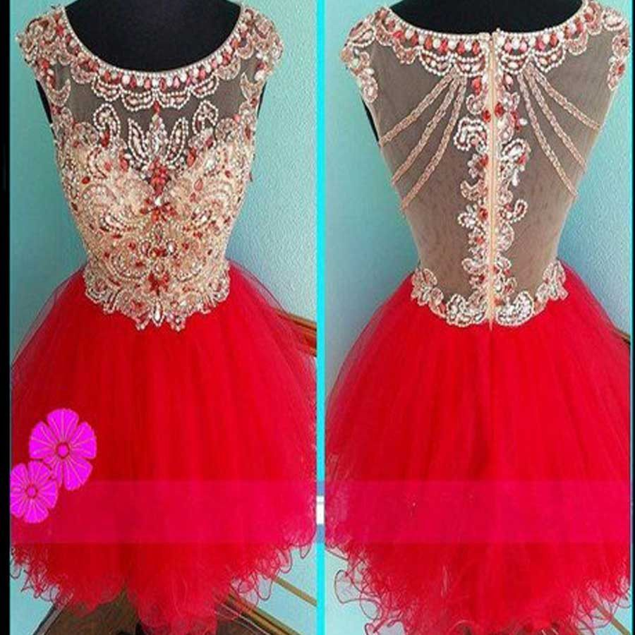 Blush red mini sparkly cute cap sleeve vintage unique homecoming