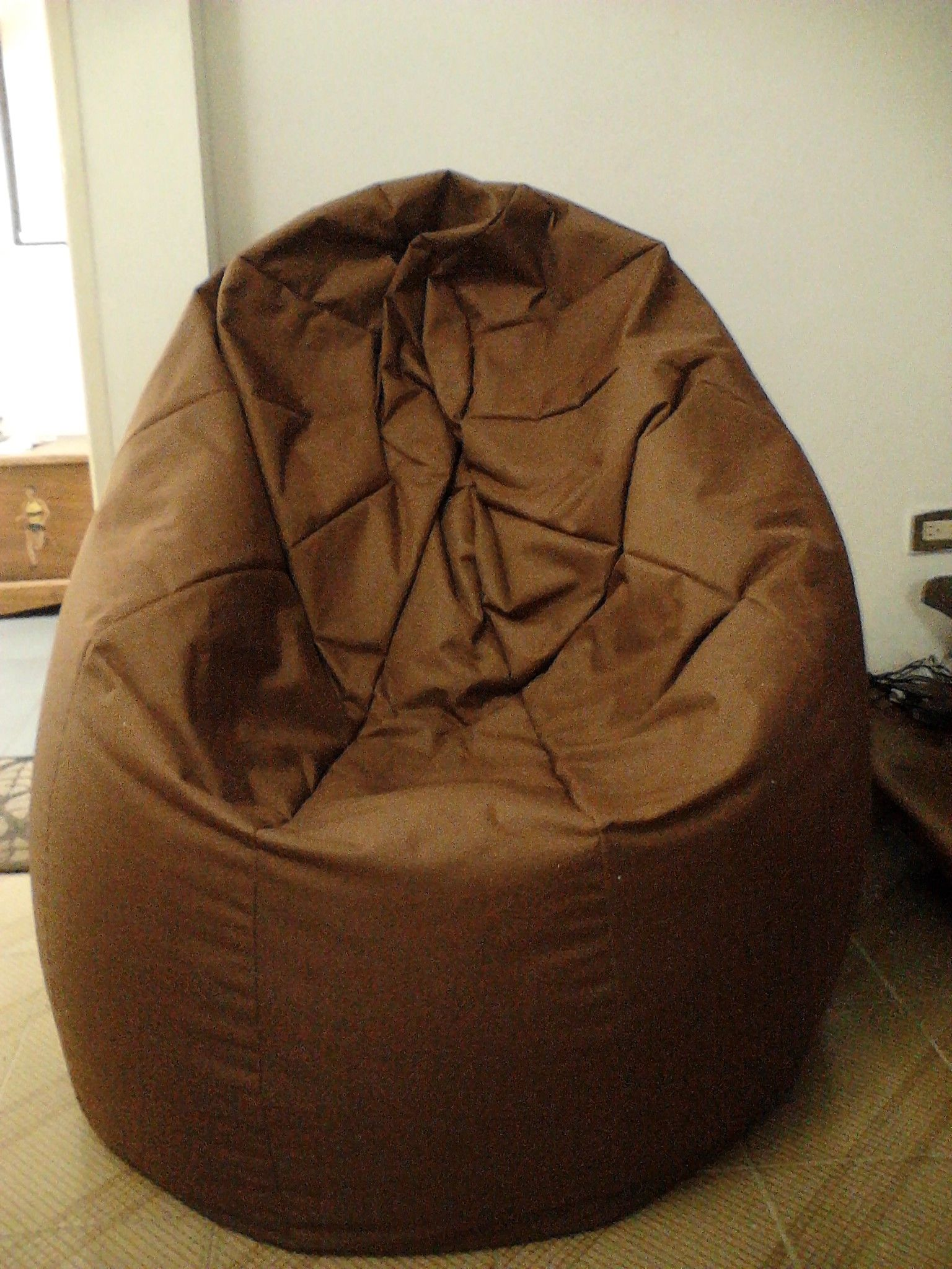 Puff tipo Pera/ Beanbag chair 5.5 kg color marron / brown