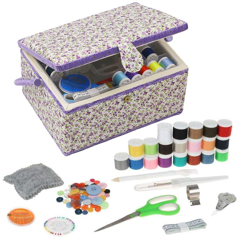 Large Sewing Box Organizer with Accessories Sewing Basket