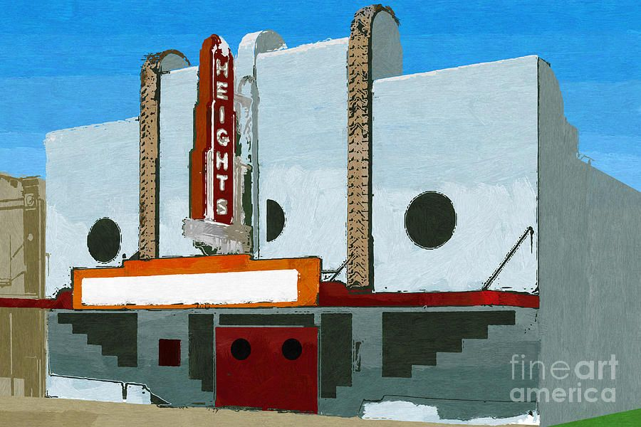 Painting - Historic Heights Theatre, Houston Texas II by D Tao #sponsored, , #PAID, #AD, #Heights, #Historic, #II, #Theatre