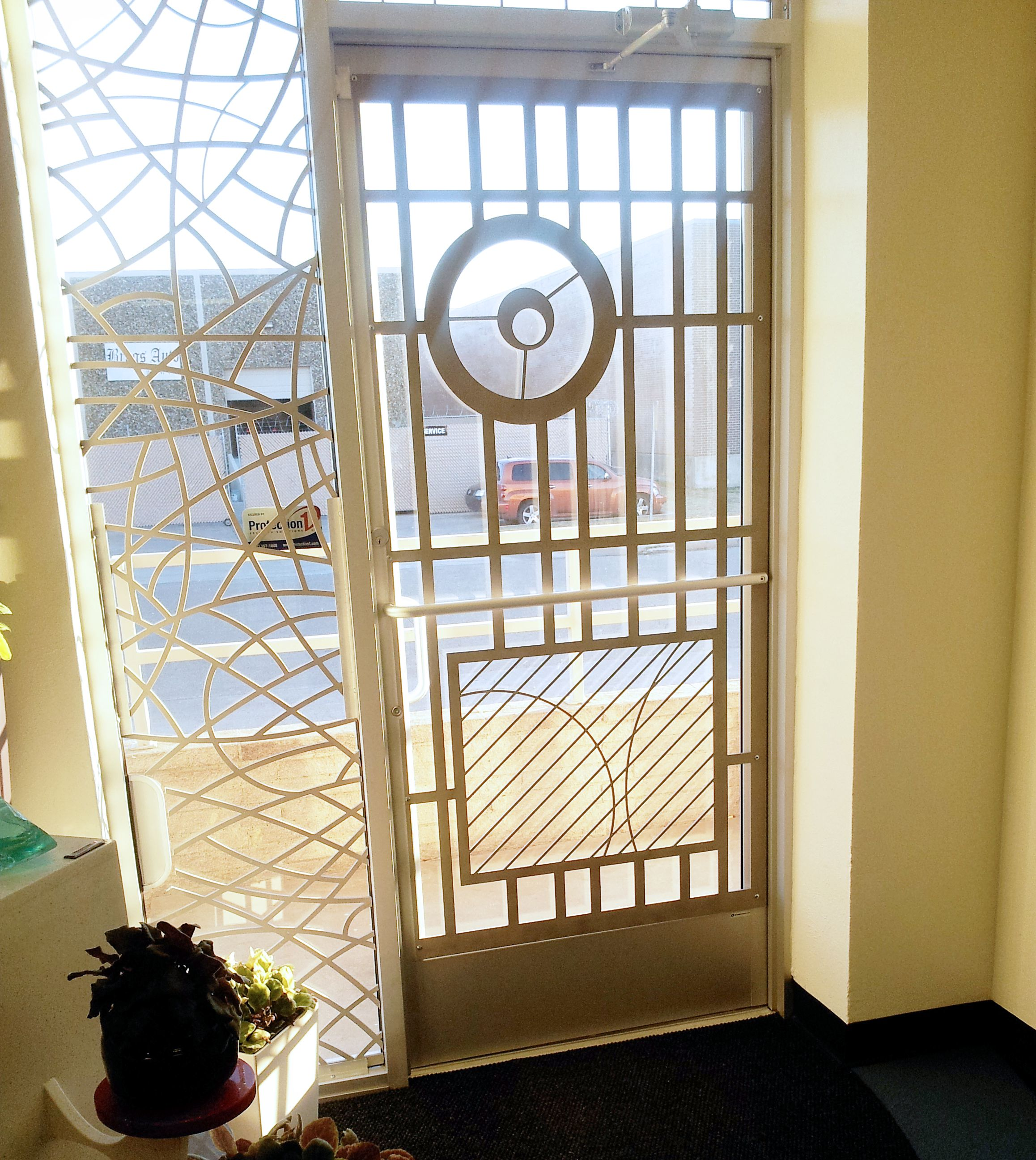 Our Front Door Security Screens As A Work Of Art By