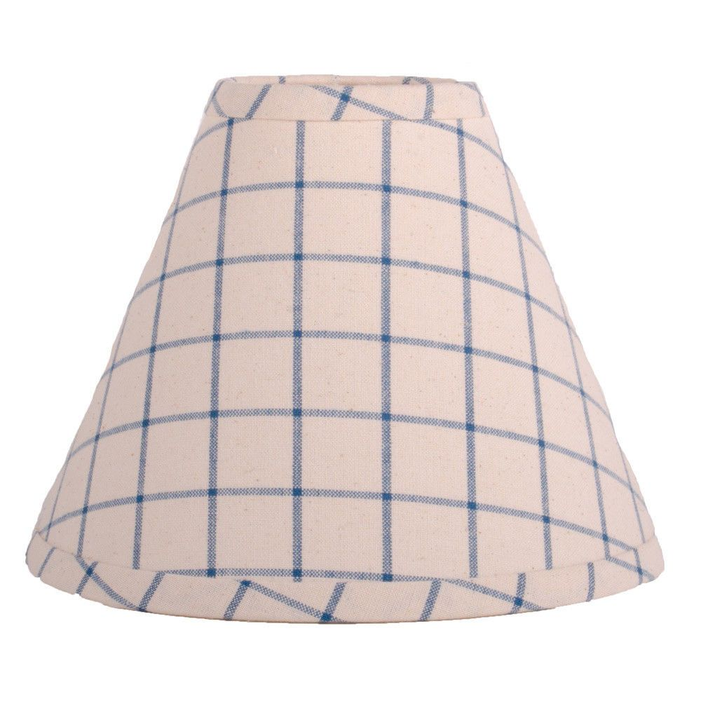 12 Inch Lamp Shade White Blue Check Home Collection By Raghu Summerville Raghu Country Lamp Shade Blue Lamp Shade Lamp