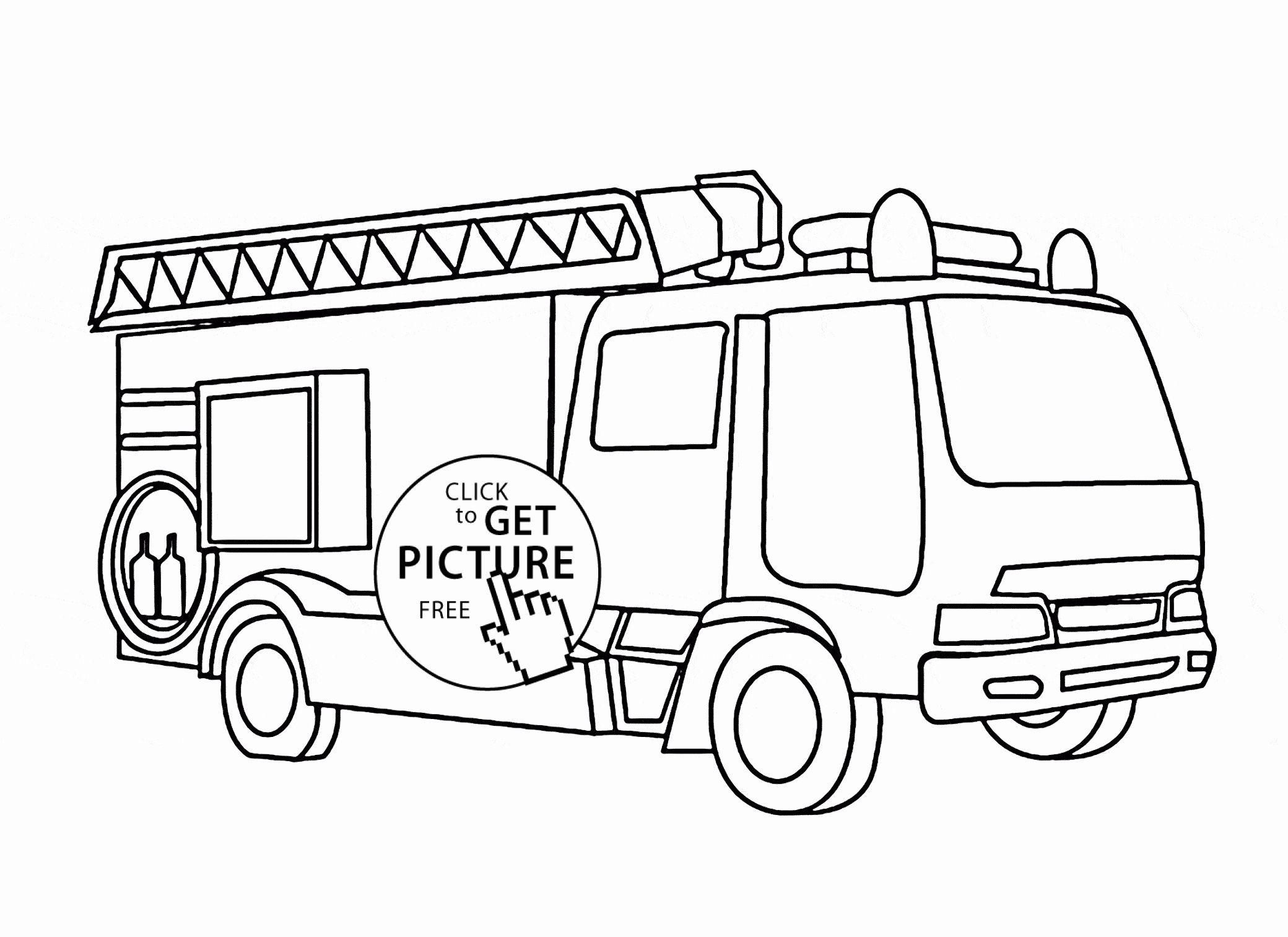Coloring Page Fire Truck Unique Simple Fire Truck Drawing At Getdrawings Truck Coloring Pages Fire Truck Drawing Fire Trucks