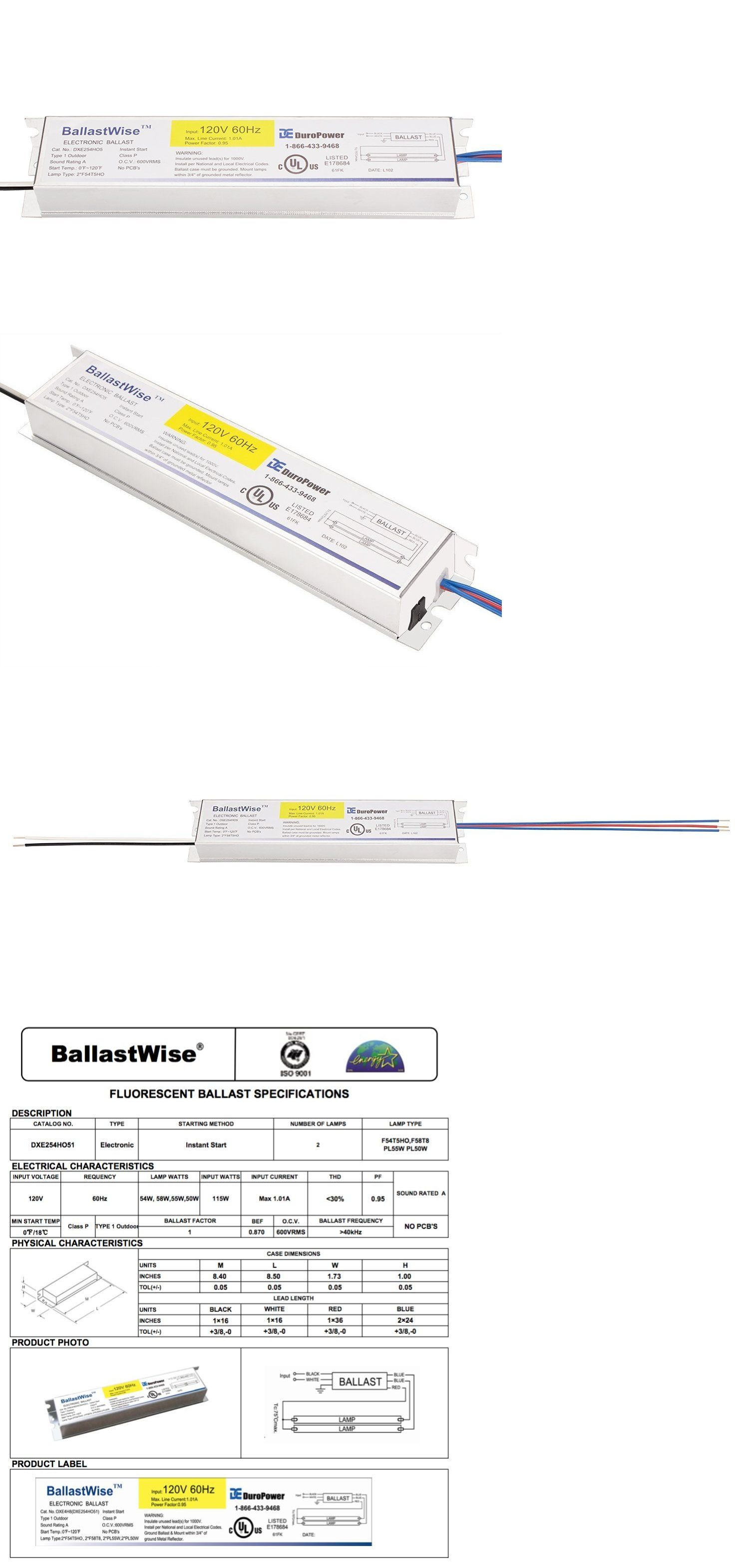 Ballastwise T5 Grow Light Ballast With Wires Dxe254ho51 For 2 F54t5ho Bulbs Ebay Grow Lights Ballast Bulb