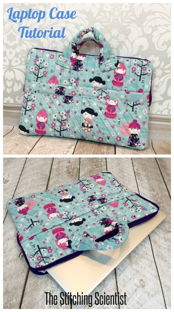 Quilted laptop case free Fabric bags, Sewing patterns
