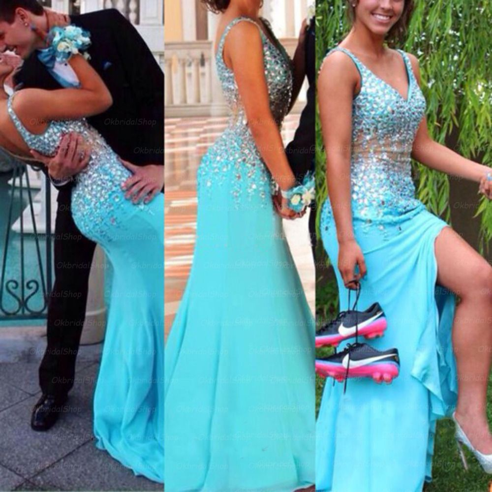 Stunning Prom Dresses With Beaded Sexy Prom Dress Mermaid Long ...