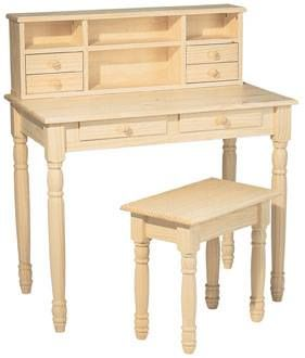 The Melina Desk From Whittier Wood Products Is Solid Pine This