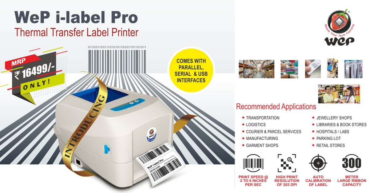 WeP #i-#label #Pro, is a #Direct #Thermal & Thermal
