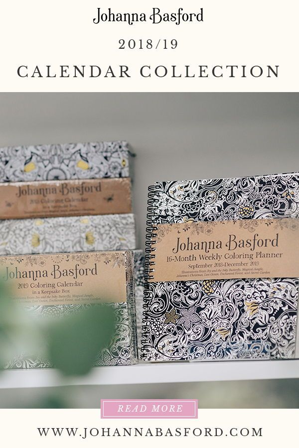 my 2019 johanna basford colouring calendars and planners are now available so you can have
