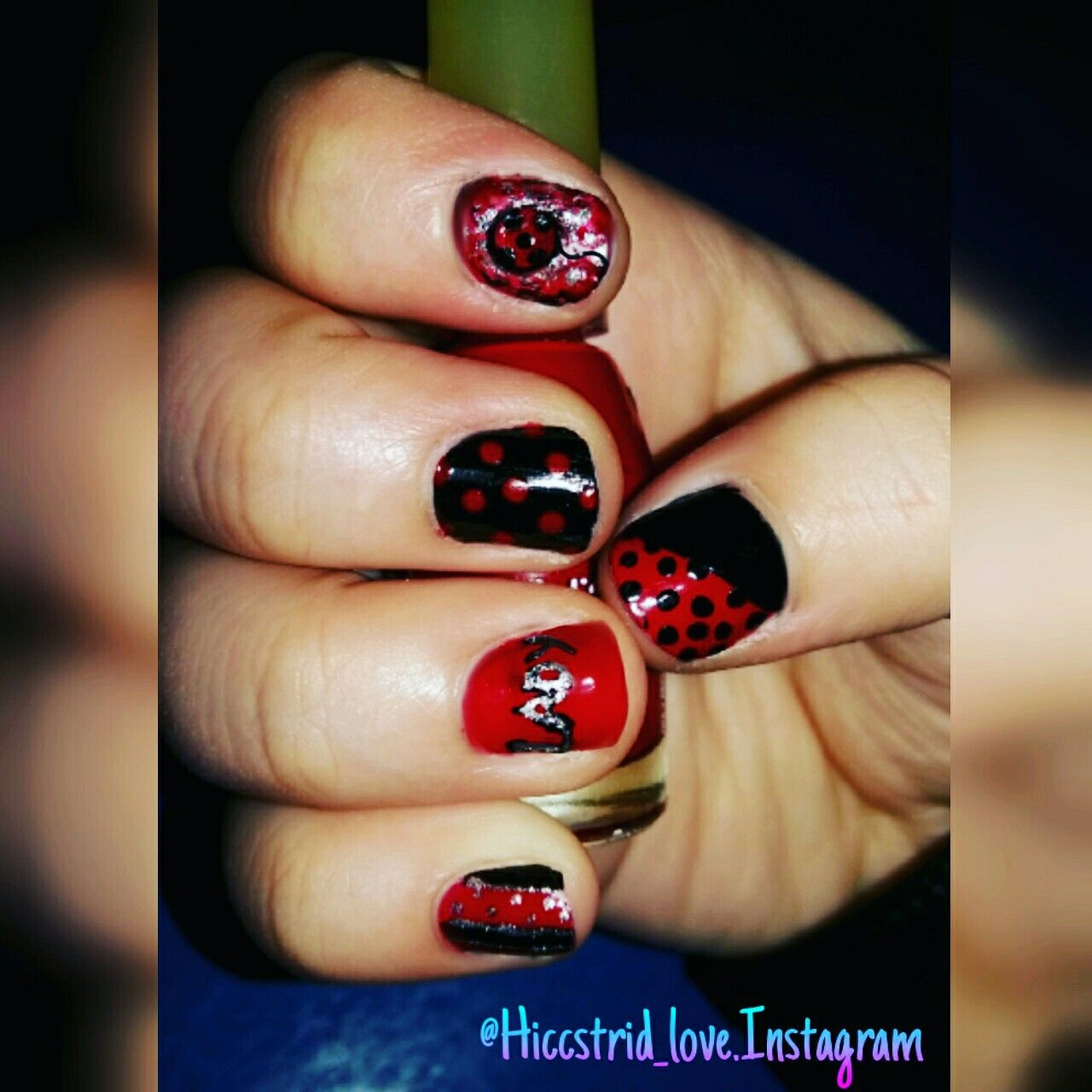 Miraculous Ladybug Nail Art Ladybug