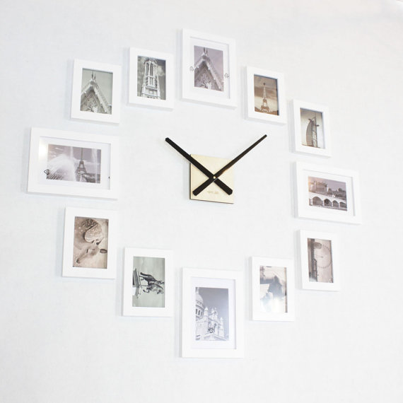 Photo Picture Frame Wall Clock Modern 12 Black In 2020 Frames On Wall Wall Clock Modern Picture Frame Wall