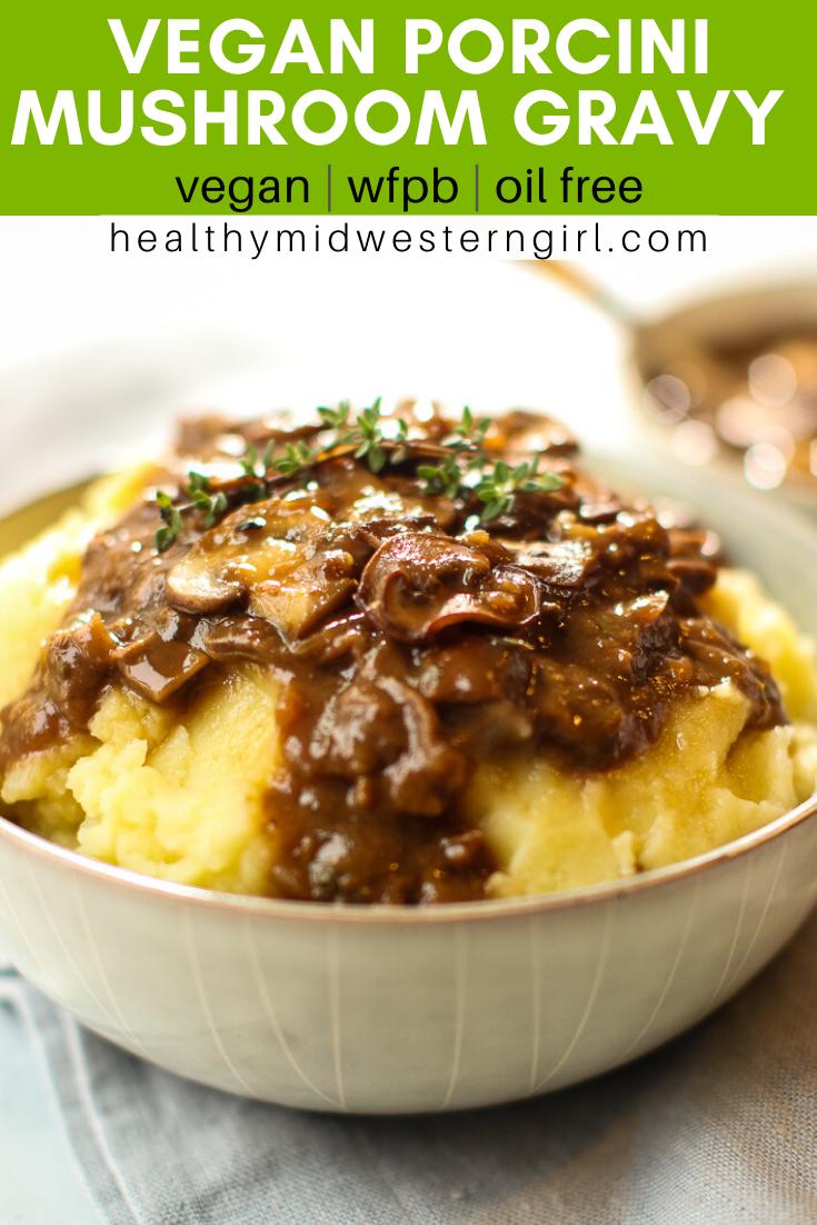 Vegan Mushroom Gravy #foodsides