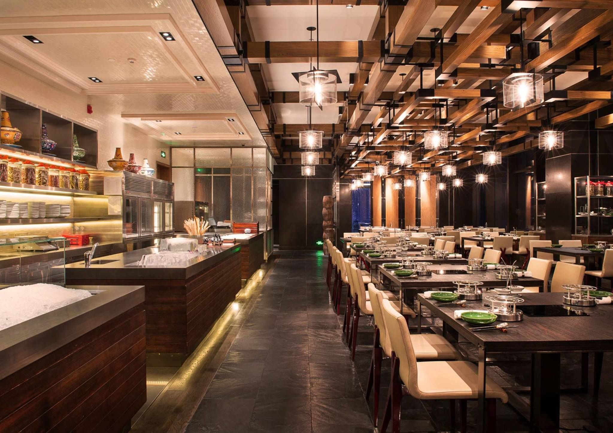 Hotpot Restaurant, Cafe Restaurant, Cafe Bar, Restaurant Design, Commercial Kitchen