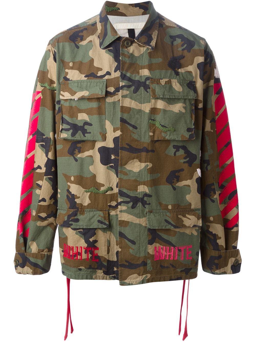 Camouflage Jacket Off White Hoodie Men Jackets [ 1334 x 1000 Pixel ]