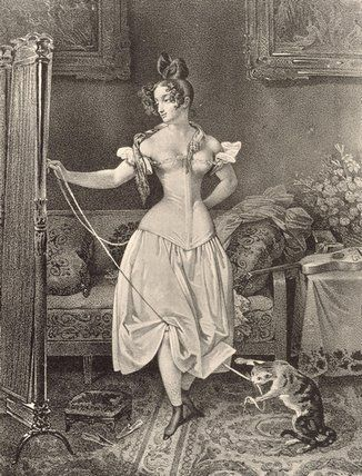 Nicholas Eustache Maurin, 'The Stay-lace', engraved by Alfred Leon Lemercier