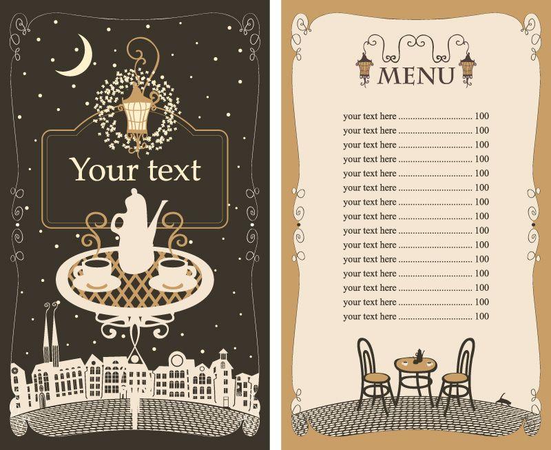 Design-Vorlage für eine Speisekarte (14)   plan   Pinterest ...