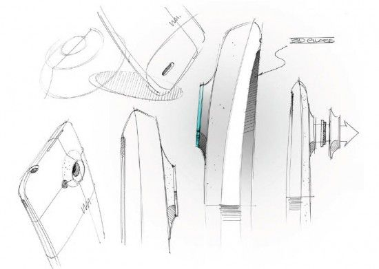 'Behind the scene' sketches from the HTC One