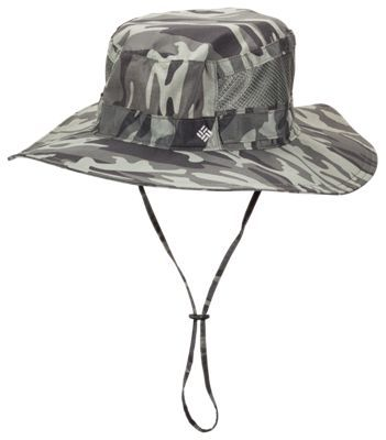 Columbia Bora Bora Print Booney Hat for Men - Gravel Camo  8c9de8cc028c
