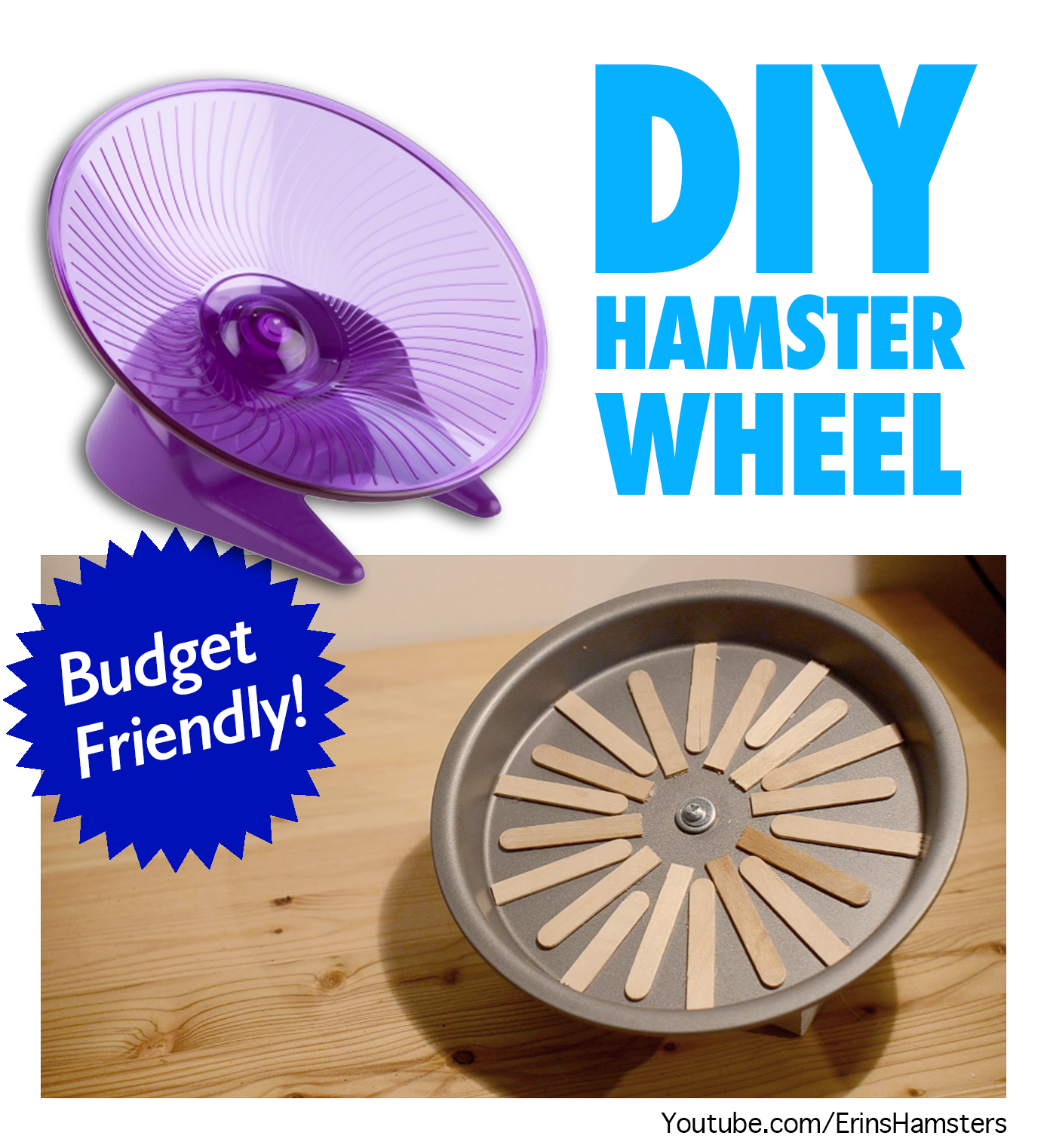DIY flying saucer wheel for hamsters mice gerbils rats and other