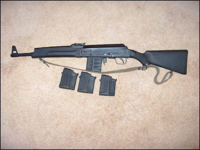 Saiga .308 Carbine 5 Mags (Four New 1 Used)