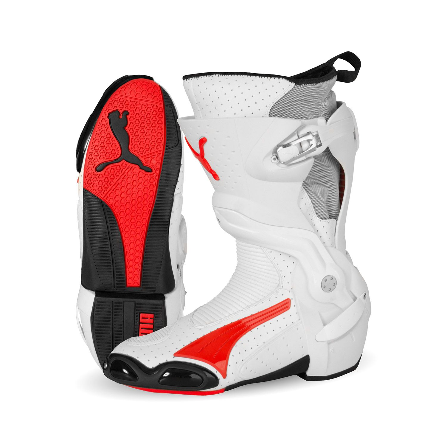 Puma 1000 v3 vented CE Motorcycle boot red white