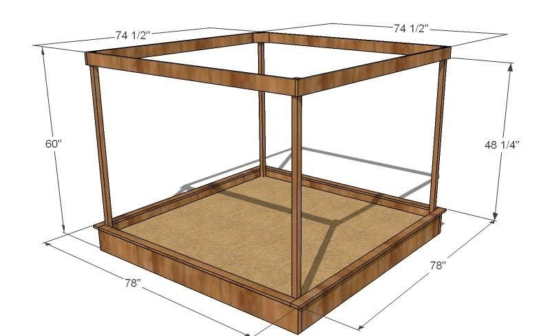 ana white build a large covered sandbox free and easy diy project and furniture - Sandbox Design Ideas
