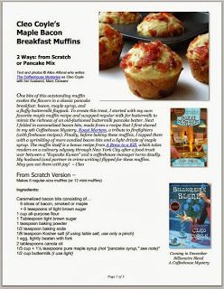 How to Make Maple Bacon Breakfast Muffins from Scratch or Pancake Mix by Cleo Coyle