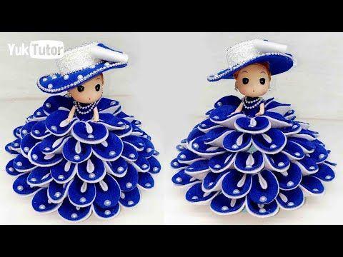Ide Kreatif Cara Hias Boneka Dari Kain Flanel Doll Decorating