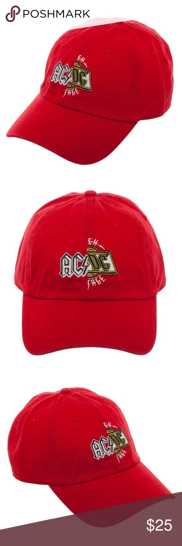 a0a437c58a1 ACDC Band Split Logo Dad Style Hat Cap Red Music This is for 1 ACDC themed