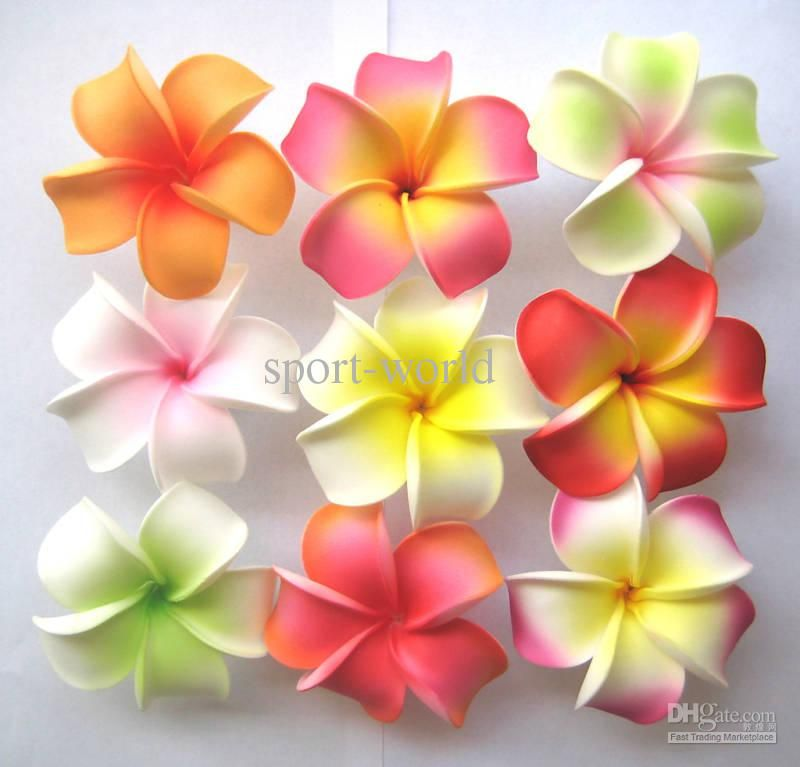 Wholesale Artificial Plumeria Flower Hair Clips Hairpins Girl Decorate Wear Bridal Hairaccessories Free Shipping Foam Flowers Faux Flowers Flowers In Hair