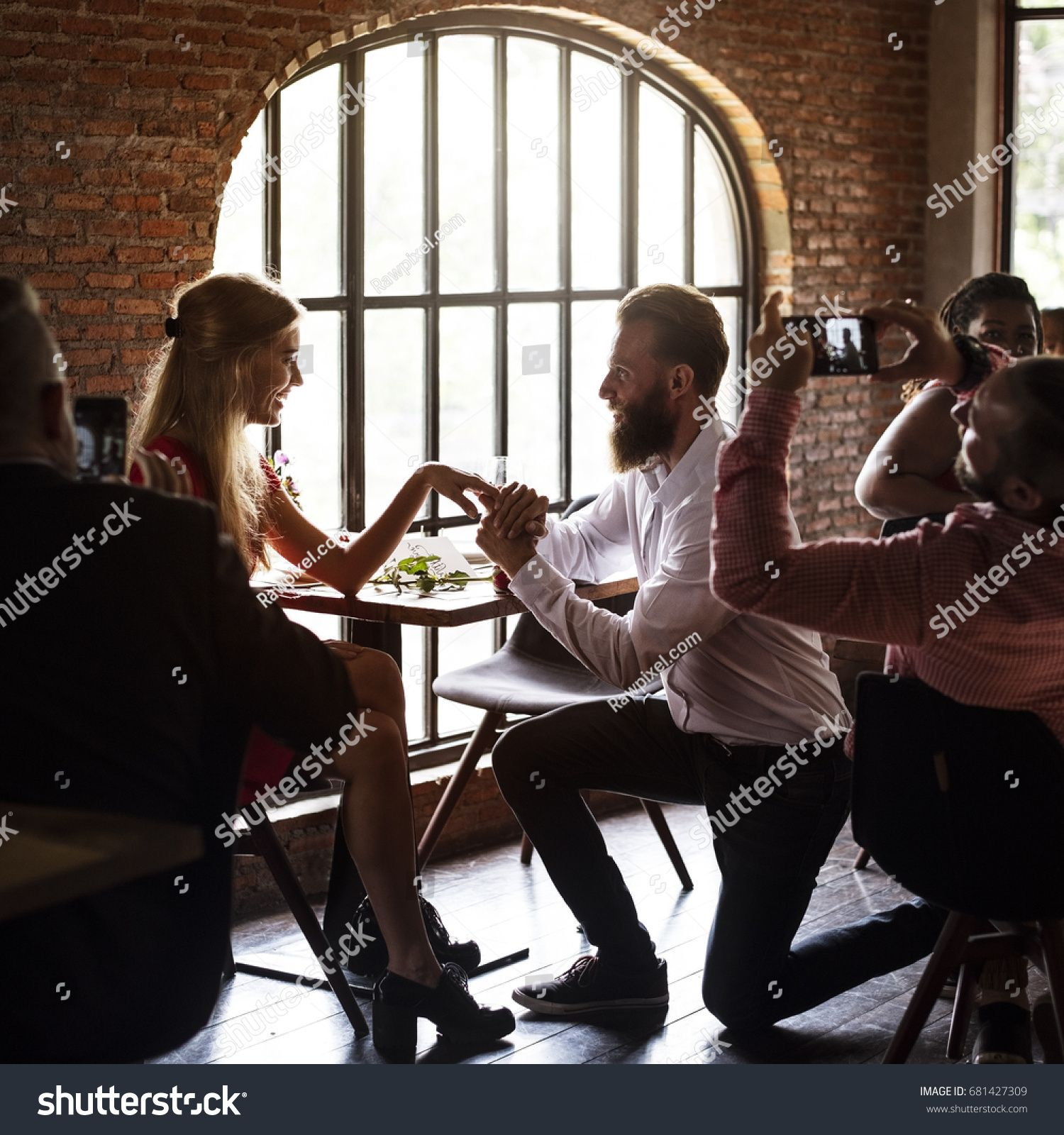 Restaurant Chilling Out Classy Lifestyle Reserved Stock Photo (Edit Now) 681427309