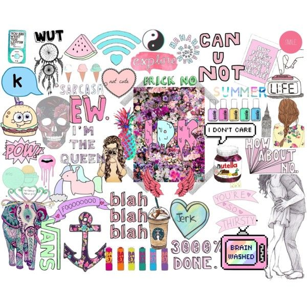 Tumblr Transparent Collage Cute Laptop Stickers Iphone Case Stickers Collage Drawing